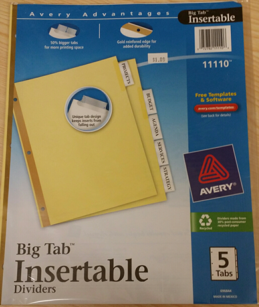 Tab Dividers 5 Tabs Clear Dctc Bookstore Mnscu