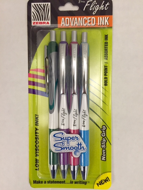 Z-Grip Flight 4 pack pens