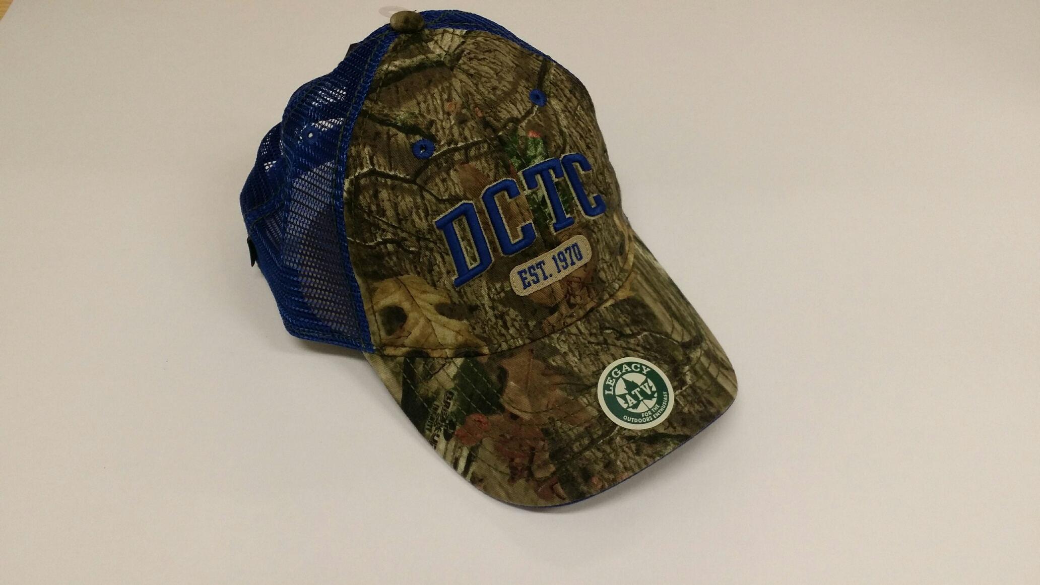 DCTC CAMO HAT W/ROYAL