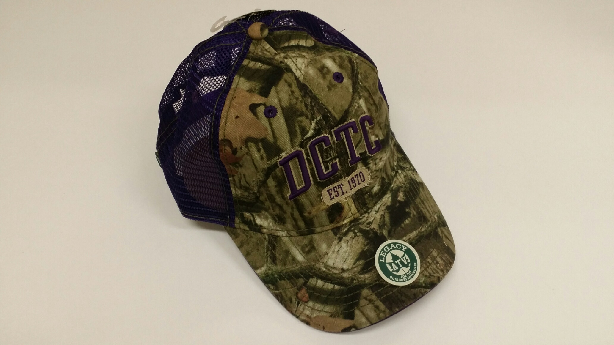 DCTC CAMO HAT W/PURPLE