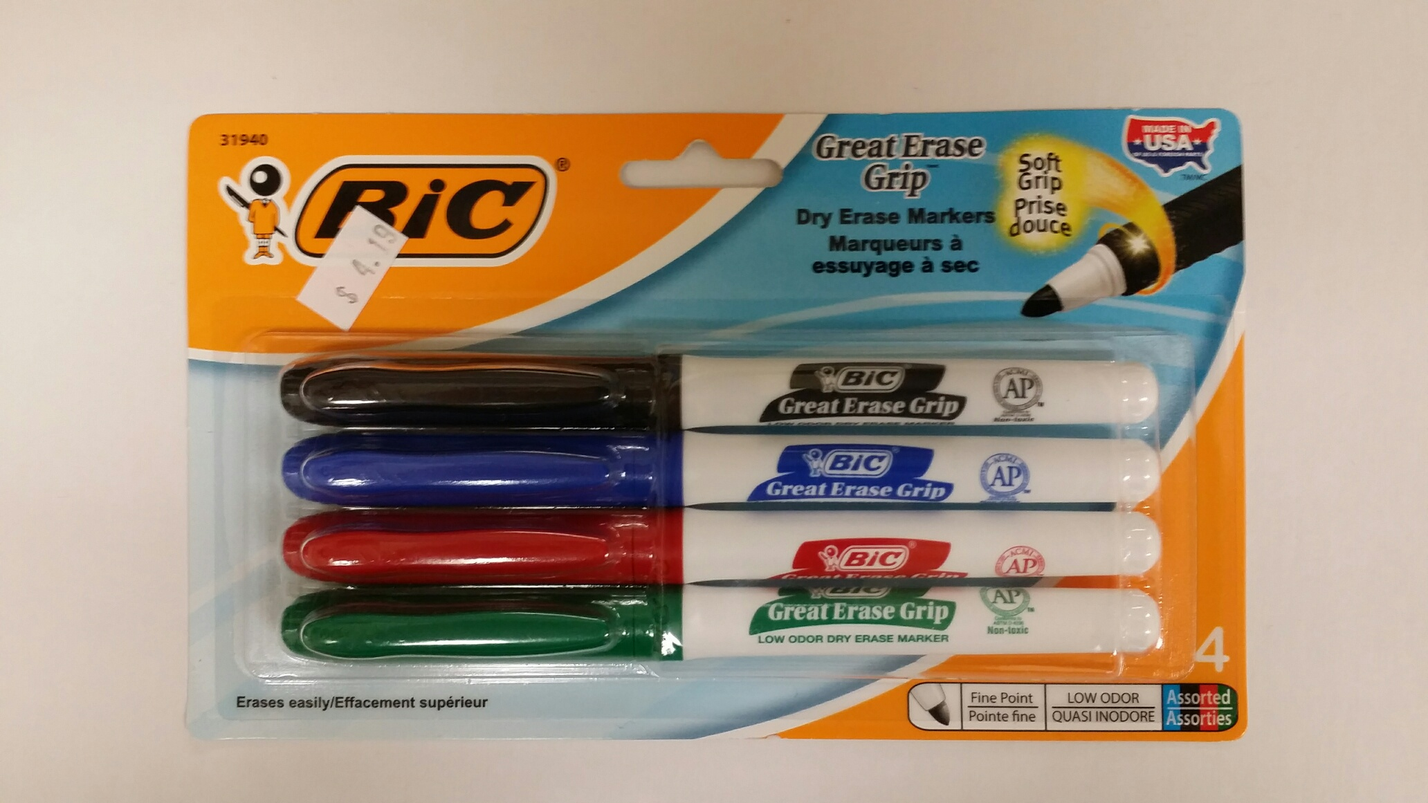 MARKERS-DRY ERASE 4PK