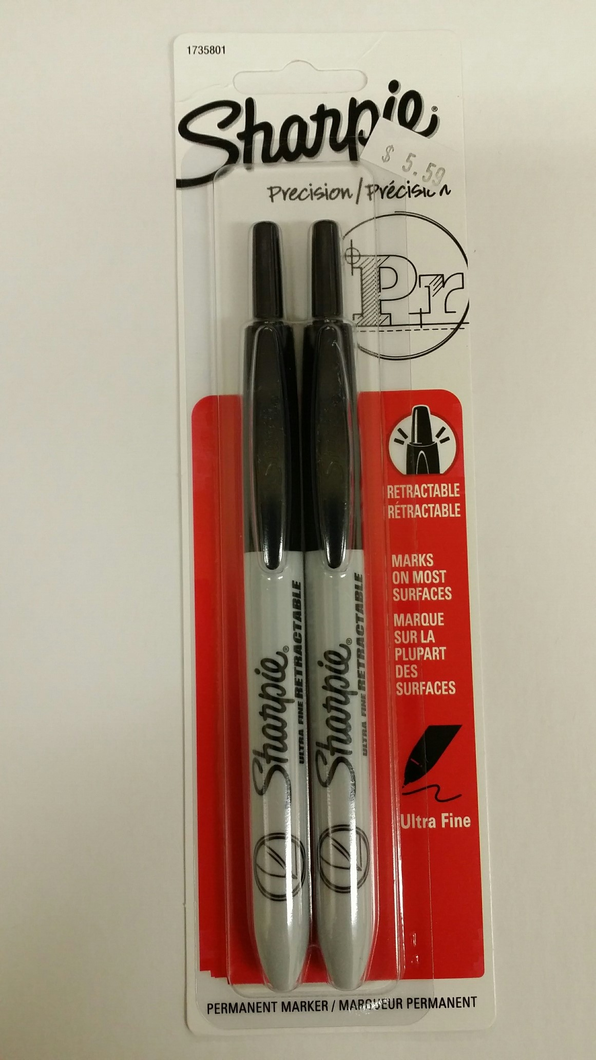 SHARPIE RT-UF 2PK/BLACK