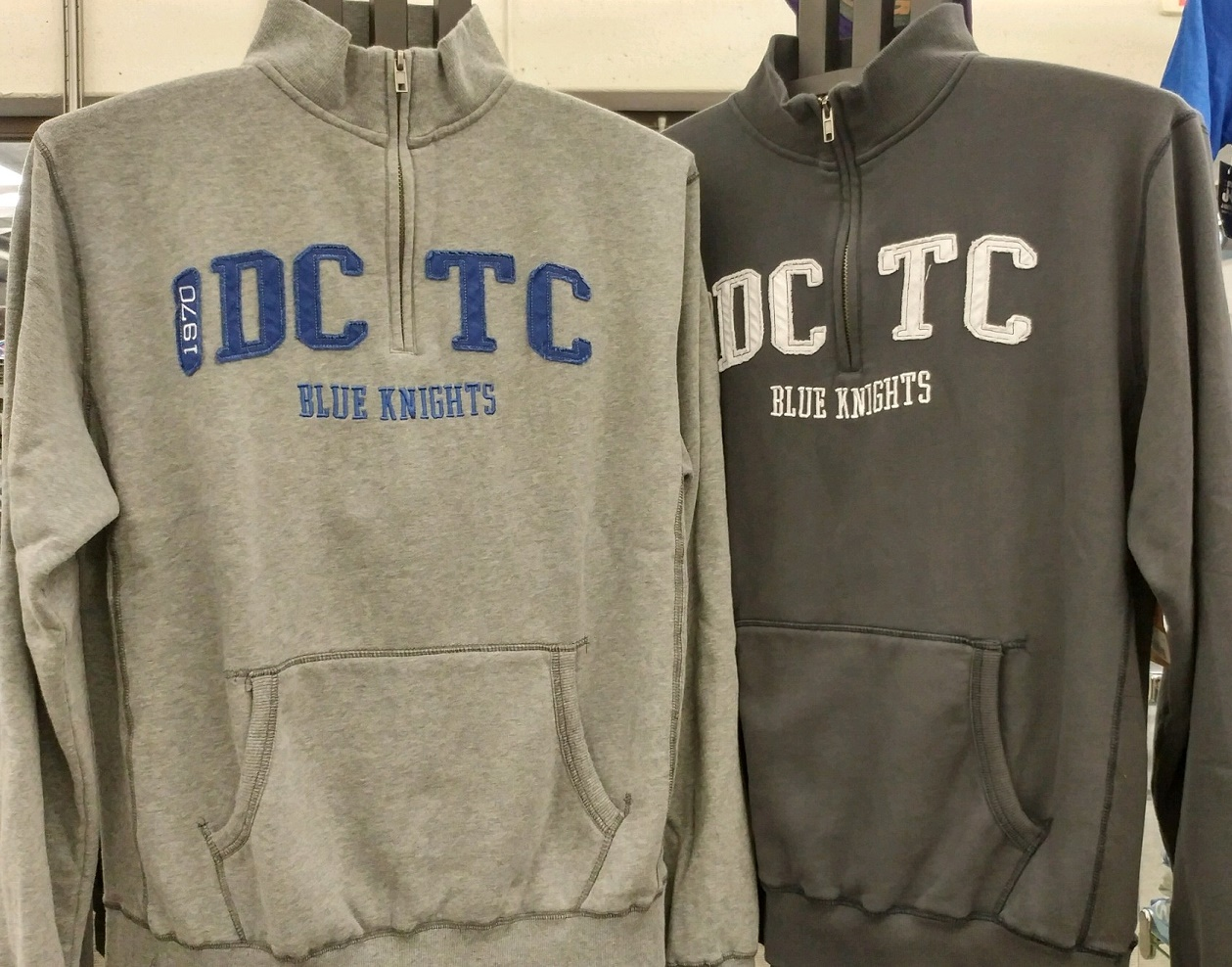 Image For DCTC 1/4 ZIP BLUE KNIGHTS